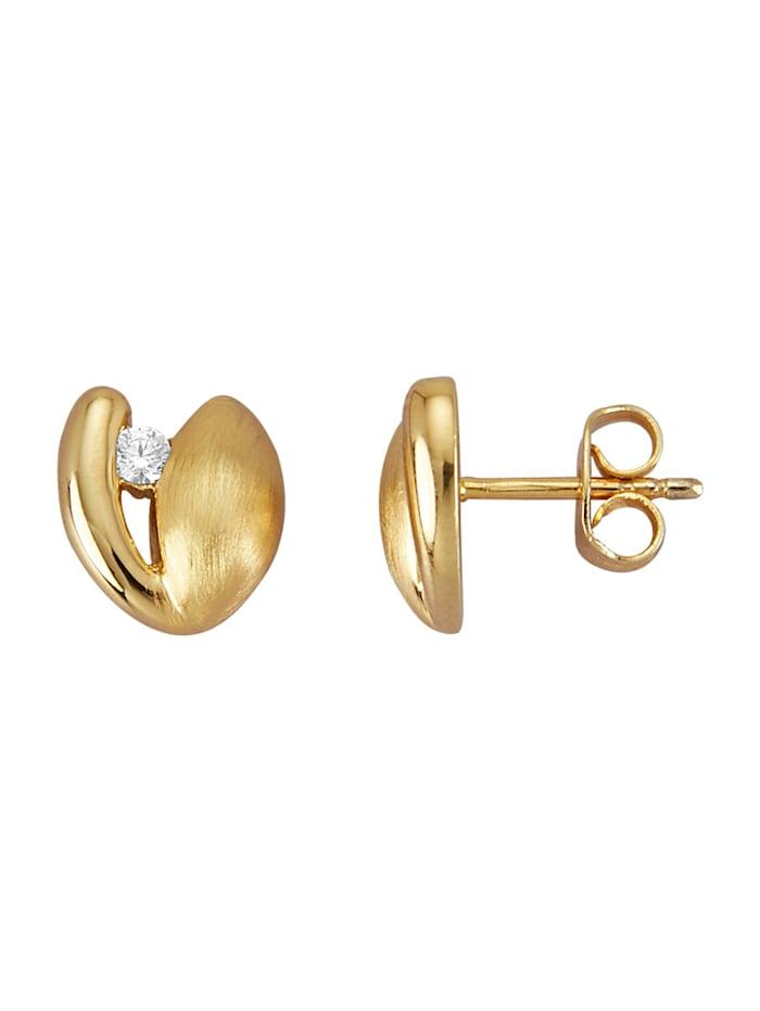 Golden Style Oorstekers verguld, Geelgoudkleur