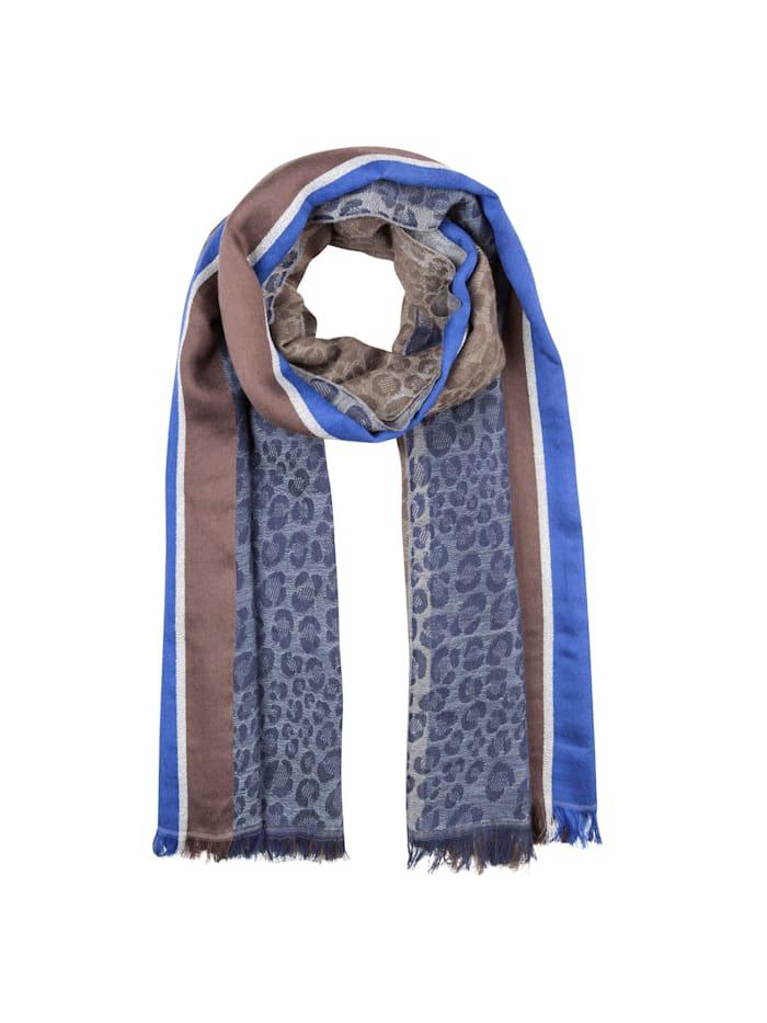 Codello Premium Leo-Schal mit edlen Glanzakzenten, jeans blue