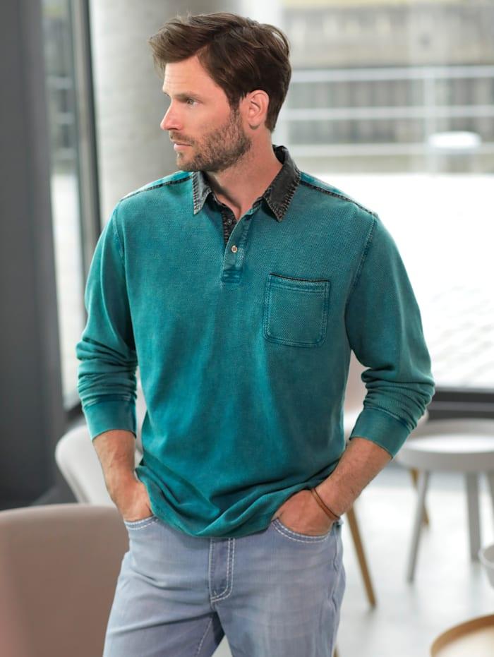 BABISTA Sweatshirt Garment washed & dye, Petrol
