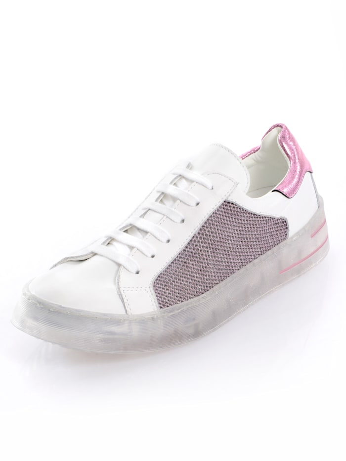 Alba Moda Sneaker mit außergewöhnlicher Sohle, Weiß