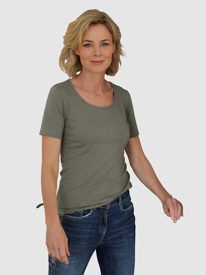 Dress In Shirt met hoog katoengehalte, Riet