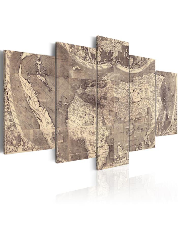 artgeist Wandbild Amerigo Vespucci: Discovery of the New World, Beige,Braun