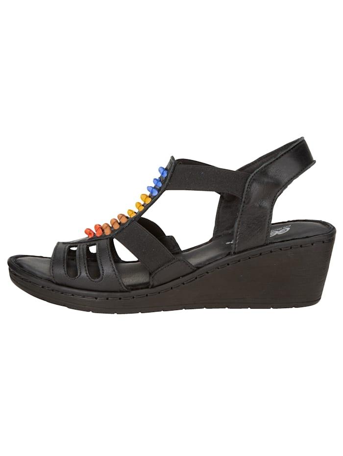 Sandales compensées avec bandes en cuir tendance