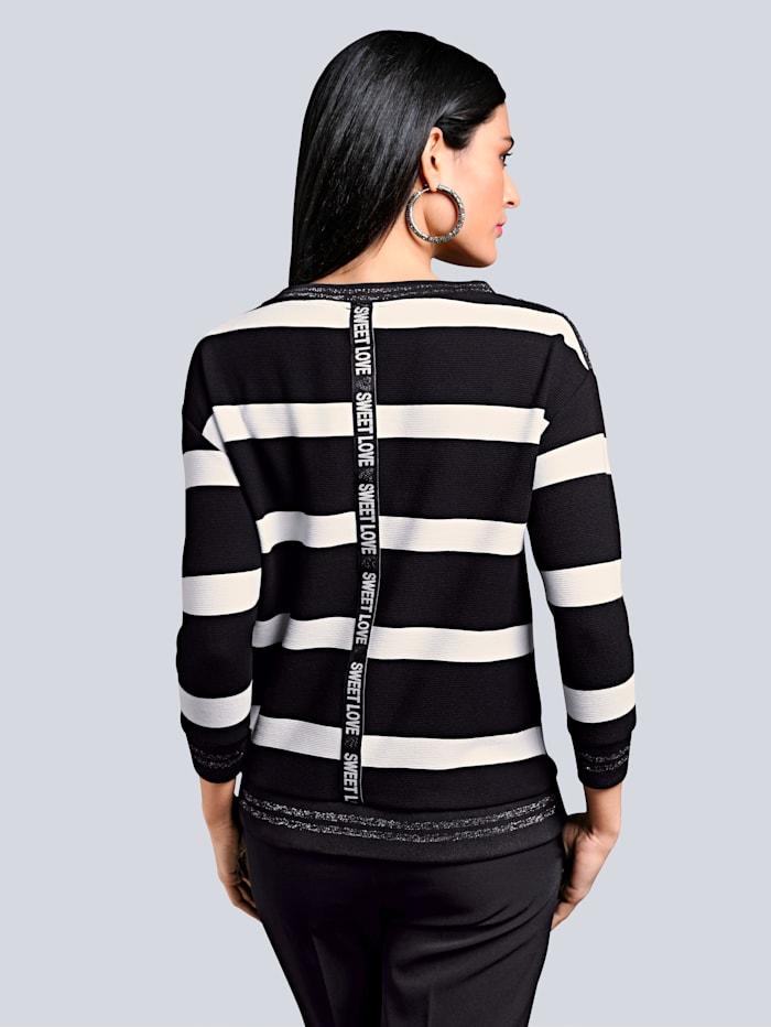 Sweatshirt im exklusiven Dessin von Alba Moda