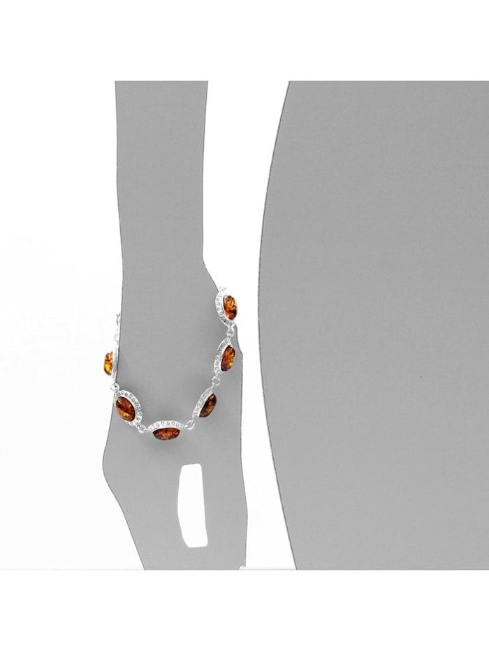 Armband - Michelle - Silber 925/000 - Bernstein