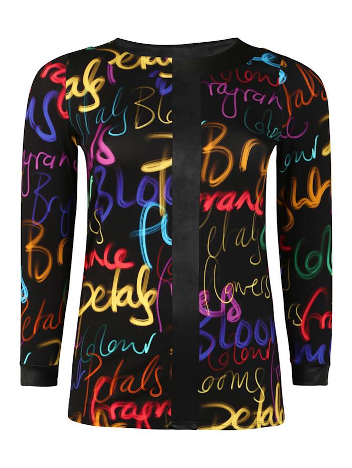 Doris Streich Shirt mit Print Kontrastverarbeitung, multicolor