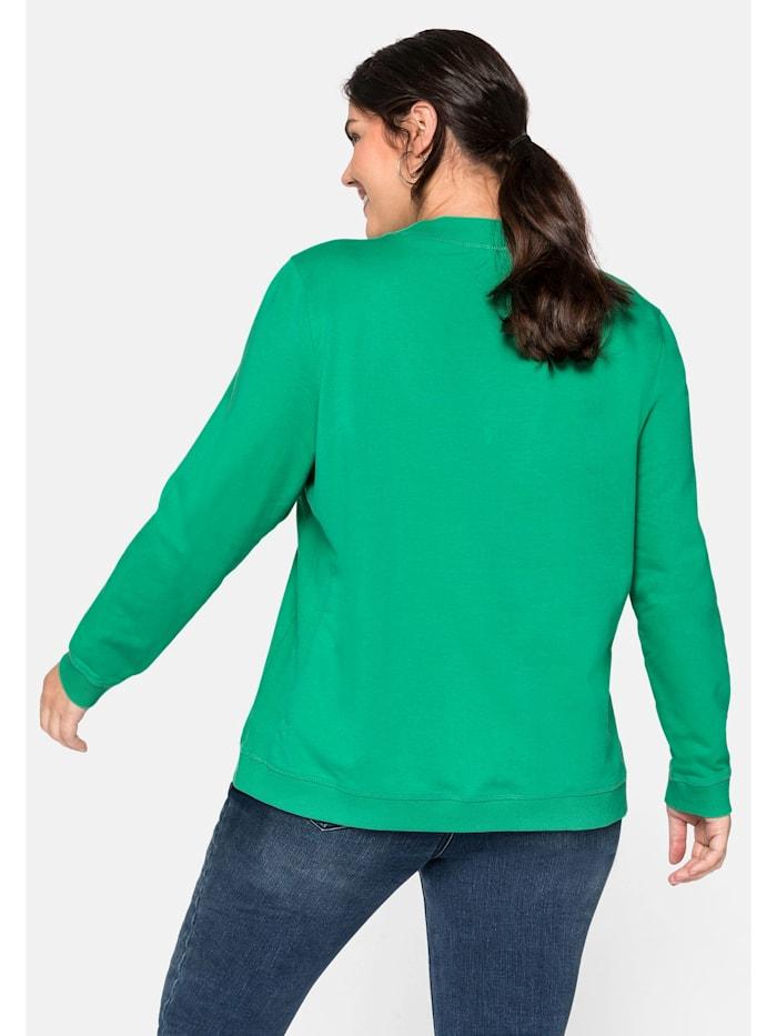 Sheego Sweatshirt aus reiner Baumwolle