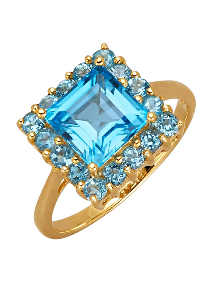Diemer Highlights Damenring, Blau
