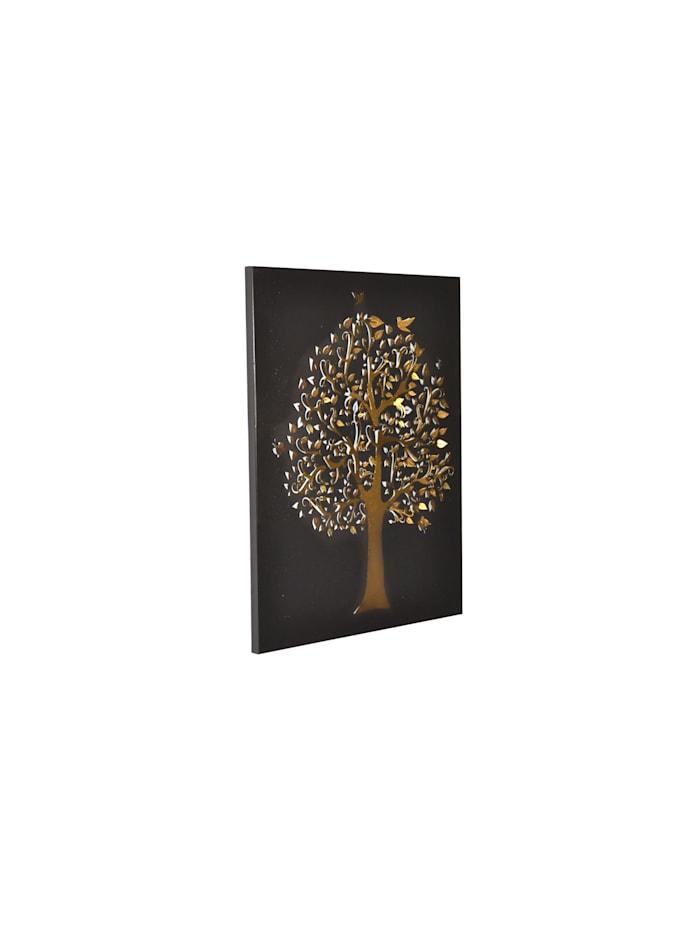 Möbel-Direkt-Online Wandbild Baum, schwarz/goldfarben