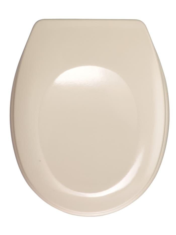 Wenko WC-Sitz Bergamo Beige, Beige, Befestigung: Silber matt