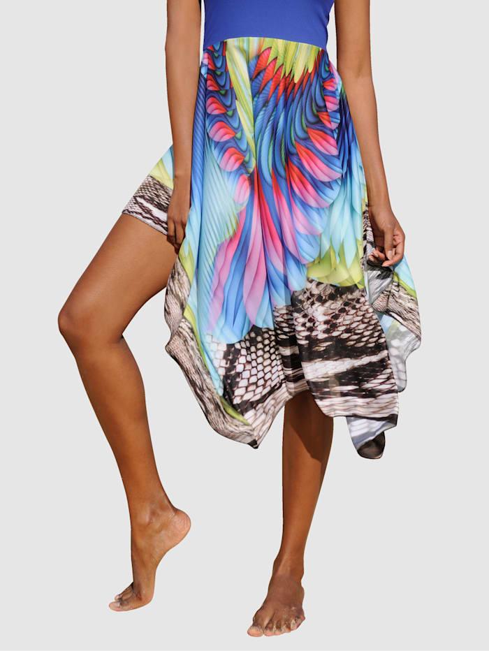 Sunflair Kjol som kan bäras på flera sätt, flerfärgad