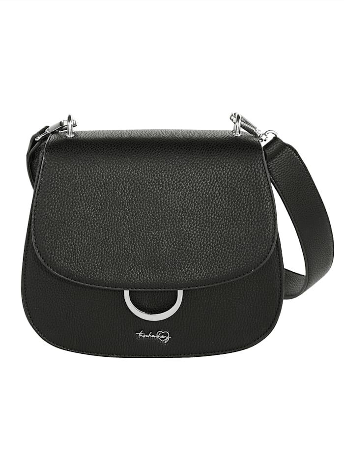 Taschenherz Umhängetasche aus hochwertigem Softmaterial, schwarz