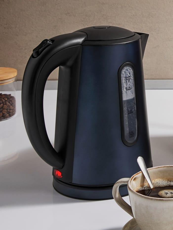 Kalorik Design-Edelstahl-Wasserkocher TKG JK 1200 BU, 1,7 Liter, blau