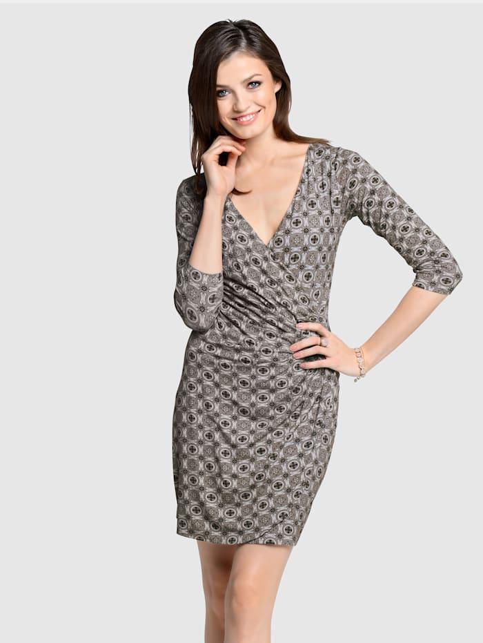 Kleid in Mosaik-Print
