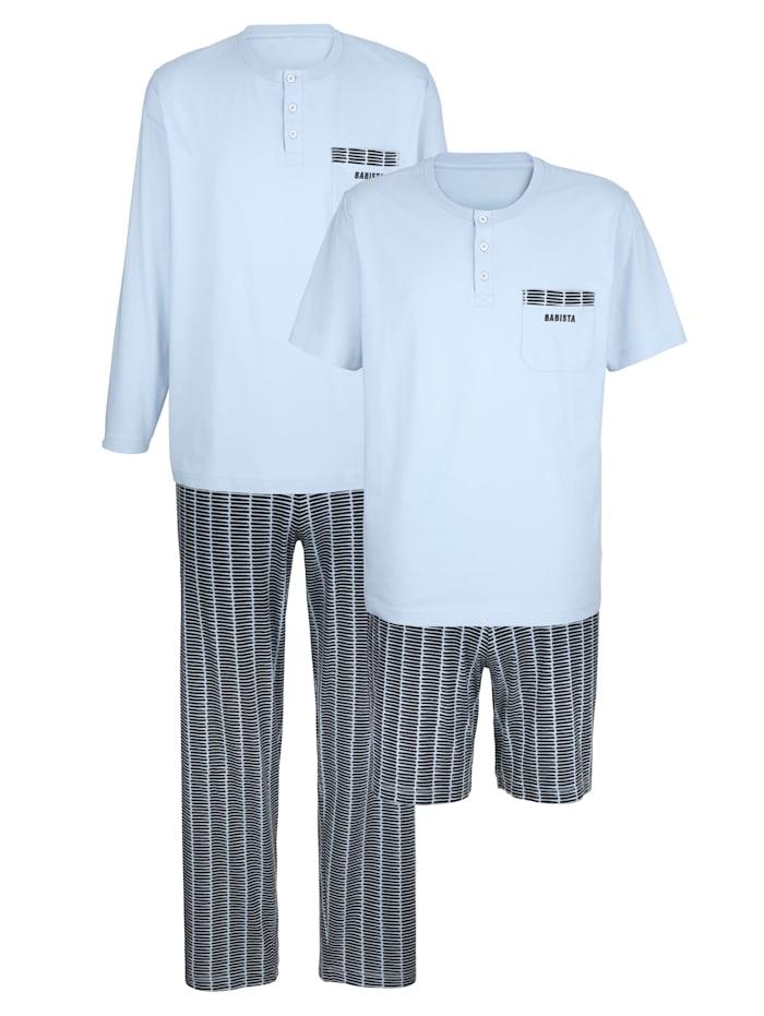 BABISTA Pyjamas, Bleu ciel/Gris