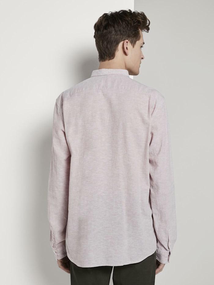 Strukturiertes Hemd aus Leinengemisch