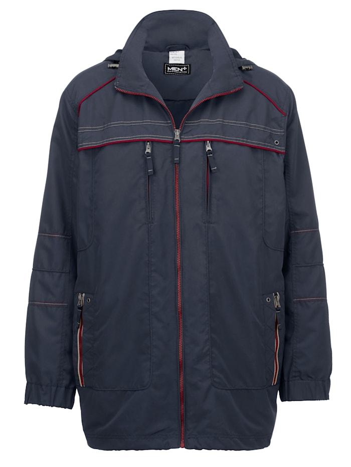 Men Plus Vettähylkivä takki – irrotettava huppu, Laivastonsininen