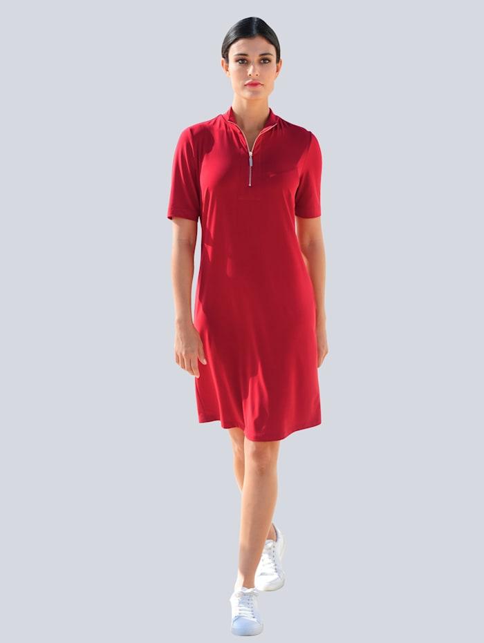 Alba Moda Jersey jurk met rits, Rood
