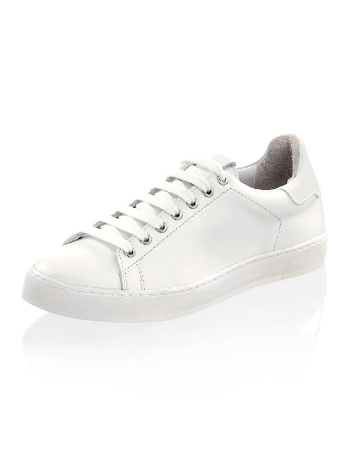 Alba Moda Sneaker in sportiver Form, Weiß