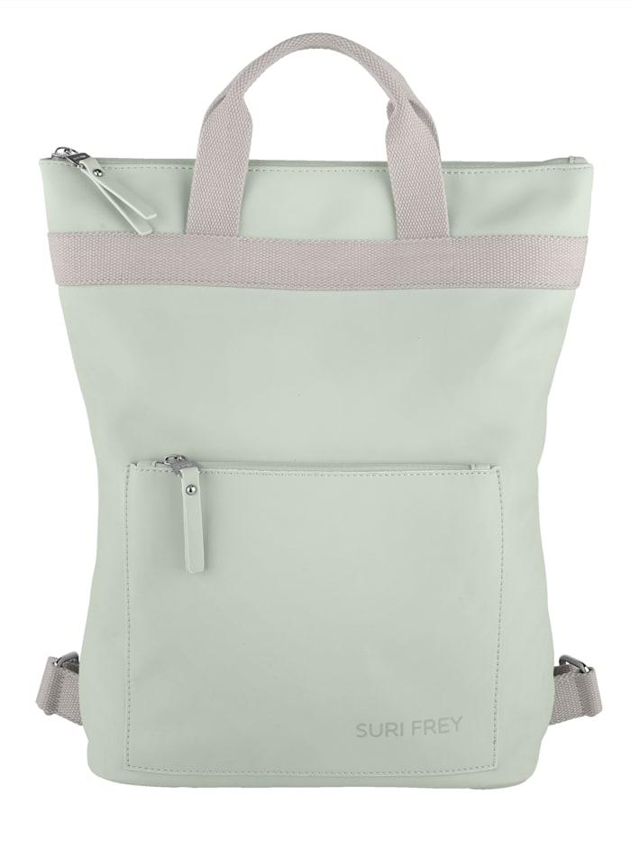 SURI FREY Rucksack mit kleiner aufgesetzter Tasche, mint