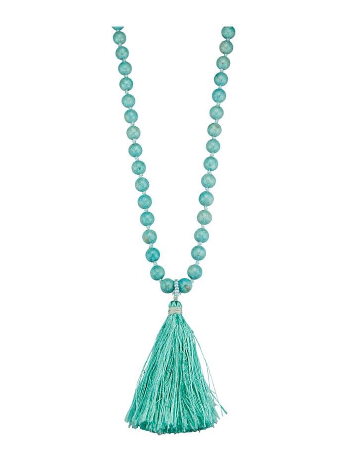 Halsband med agat, Turkos