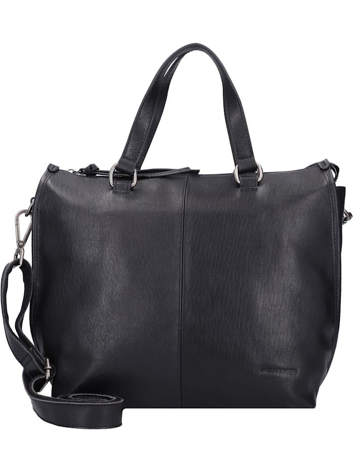 FredsBruder Veg Tan Collection Moss Handtasche Leder 26 cm, black