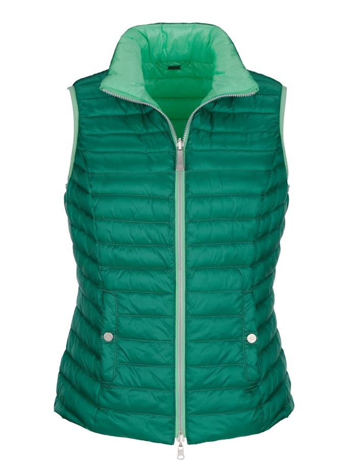 Reversible gilet in two shades