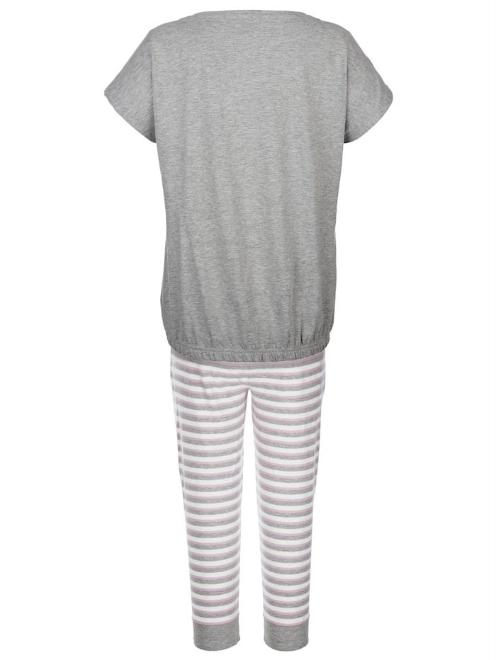 Pyjama met trendy strepen