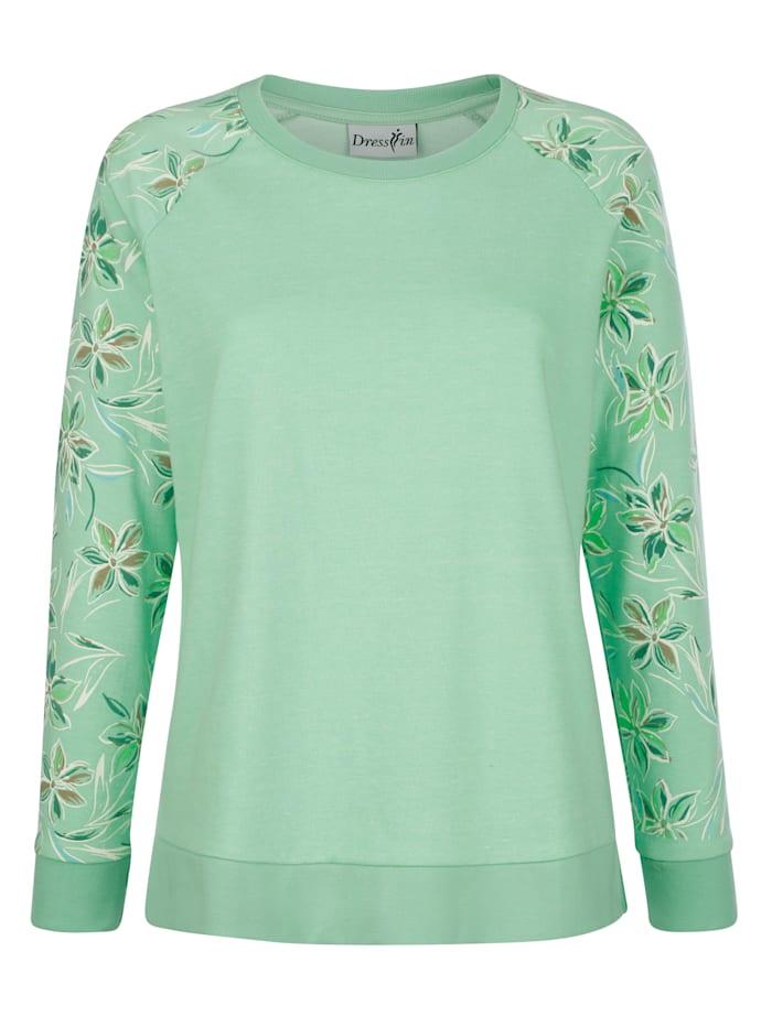 Sweatshirt met gedessineerde raglanmouwen