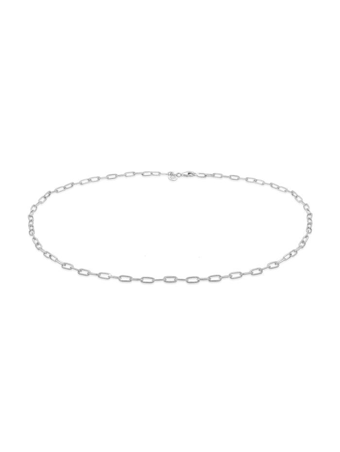 Elli Premium Halskette Basic Gliederkette Blogger Trend 925Er Silber, Silber