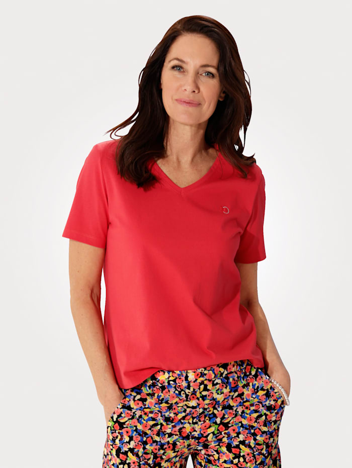 MONA Top made from sustainable cotton, Red