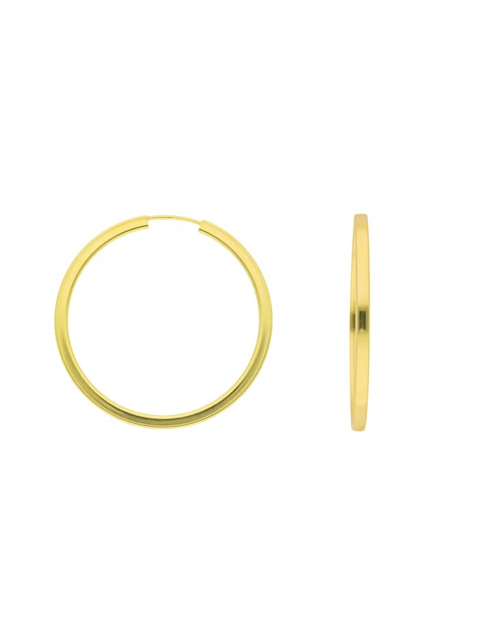 1001 Diamonds Damen Goldschmuck 333 Gold Ohrringe / Creolen Ø 38 mm, gold