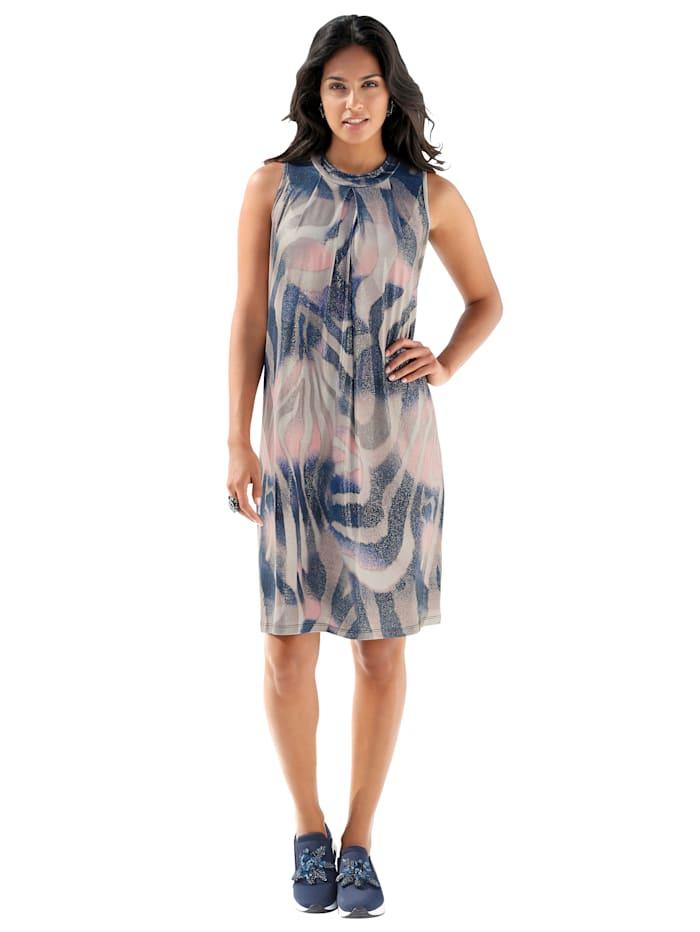 AMY VERMONT Kleid mit dekorativem Allover-Druck, Multicolor