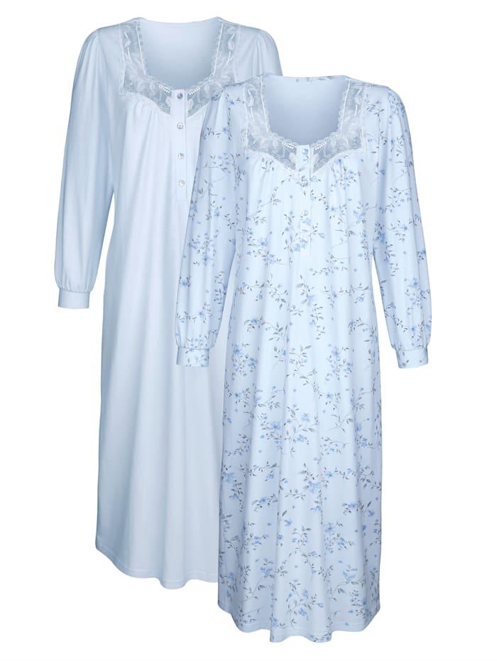 Nachthemd mit Bündchenmanschetten 2er Pack