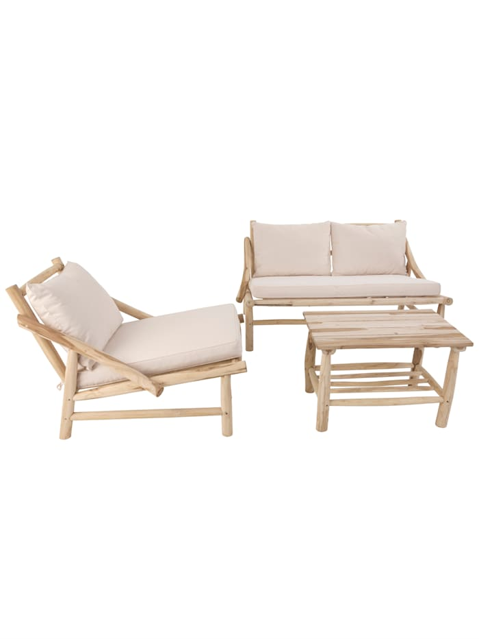 IMPRESSIONEN living Outdoor-Lounge-Set, 3-tlg., natur weiß