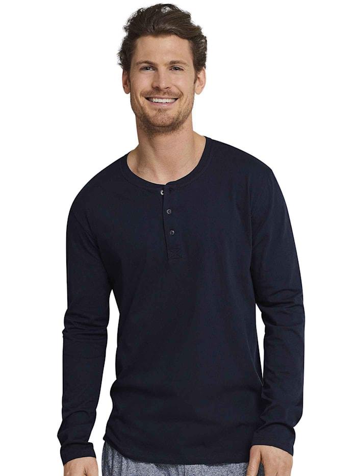 Langarm-Shirt mit Knopfleiste Ökotex zertifiziert