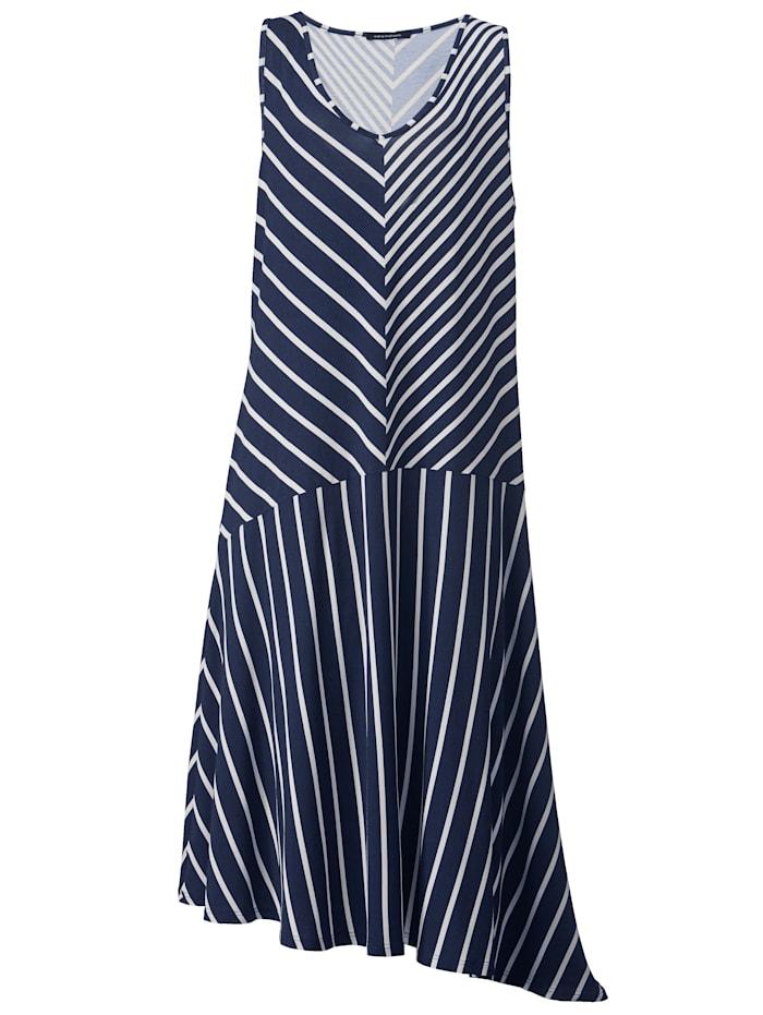 Džersej šaty s asymetrickým ukončením