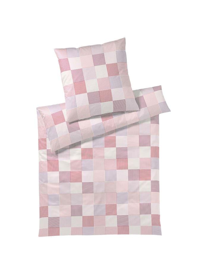 Elegante Mako-Jersey Bettwäsche Center pink, pink
