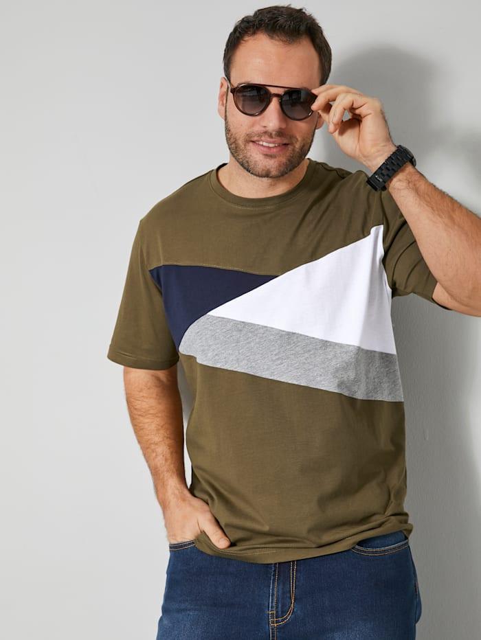 T-shirt met colour blocking dessin