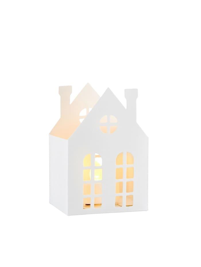 HTI-Living LED Windlicht Haus, Weiß