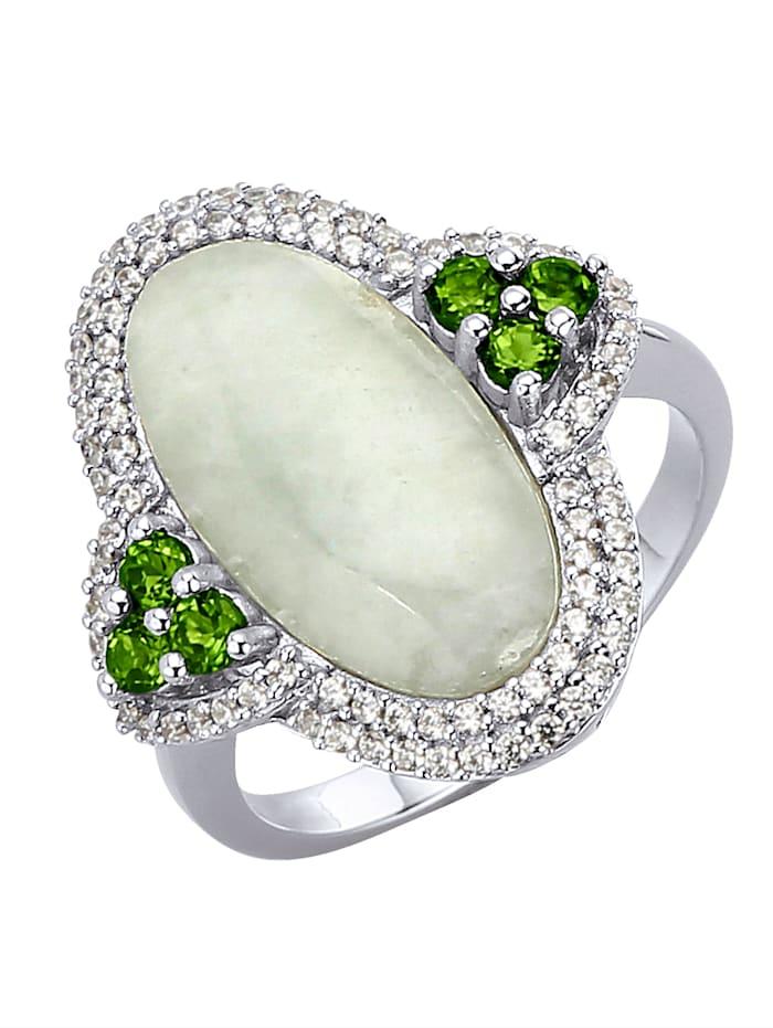 Damenring mit Jade, Grün