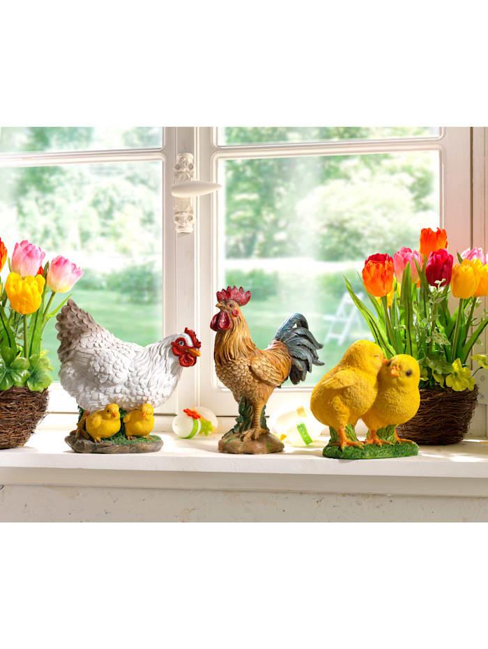Figur – 2 kycklingar, gul