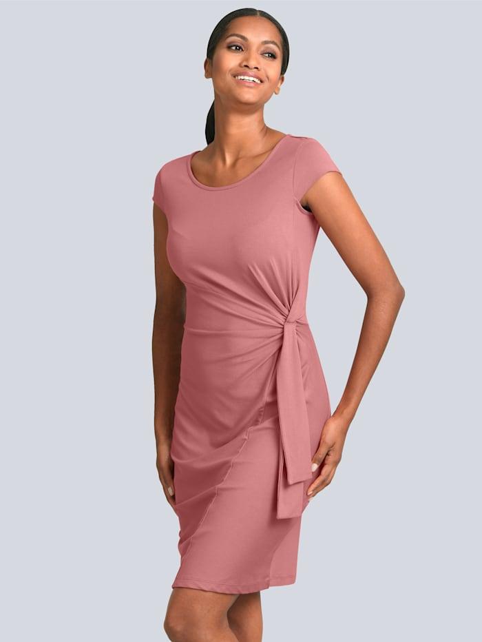 Alba Moda Kleid mit Knotendetail in der Taille, Rosenholz