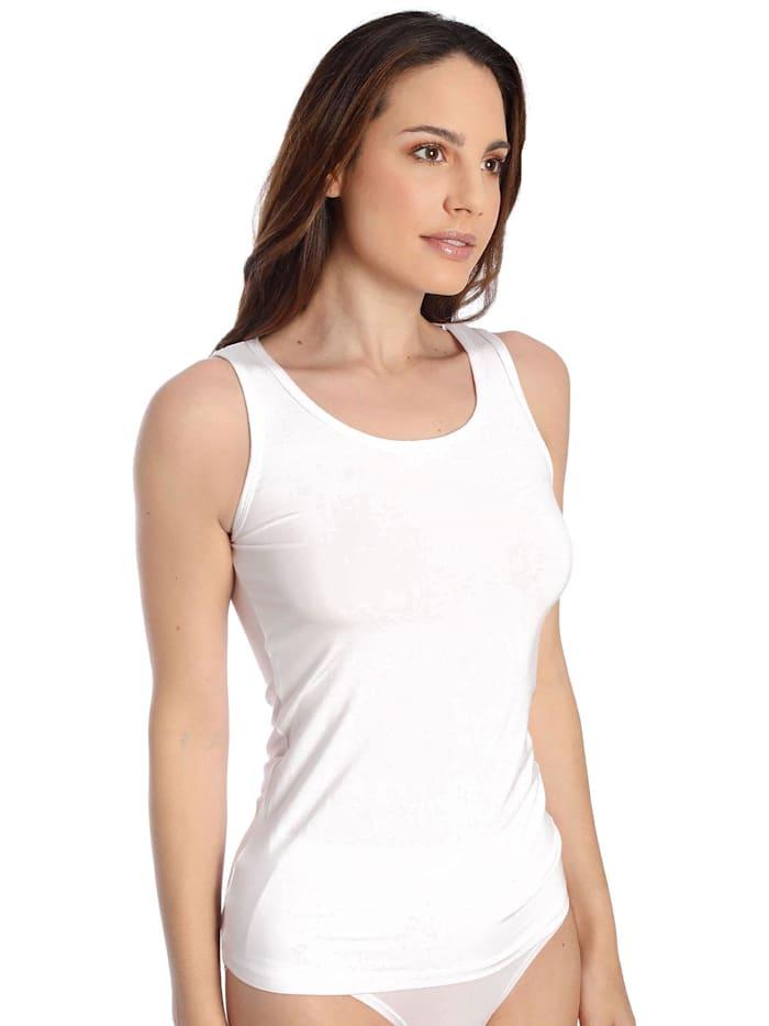 sassa Damen Top Lovely Skin, white