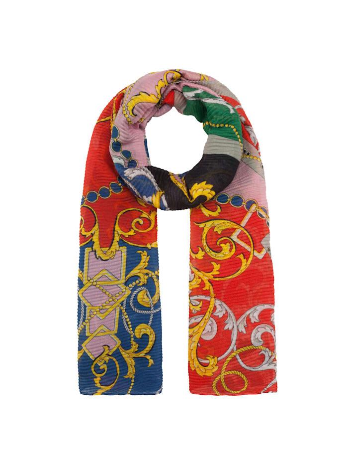 Codello Plissee-Schal aus recyceltem Polyester, red