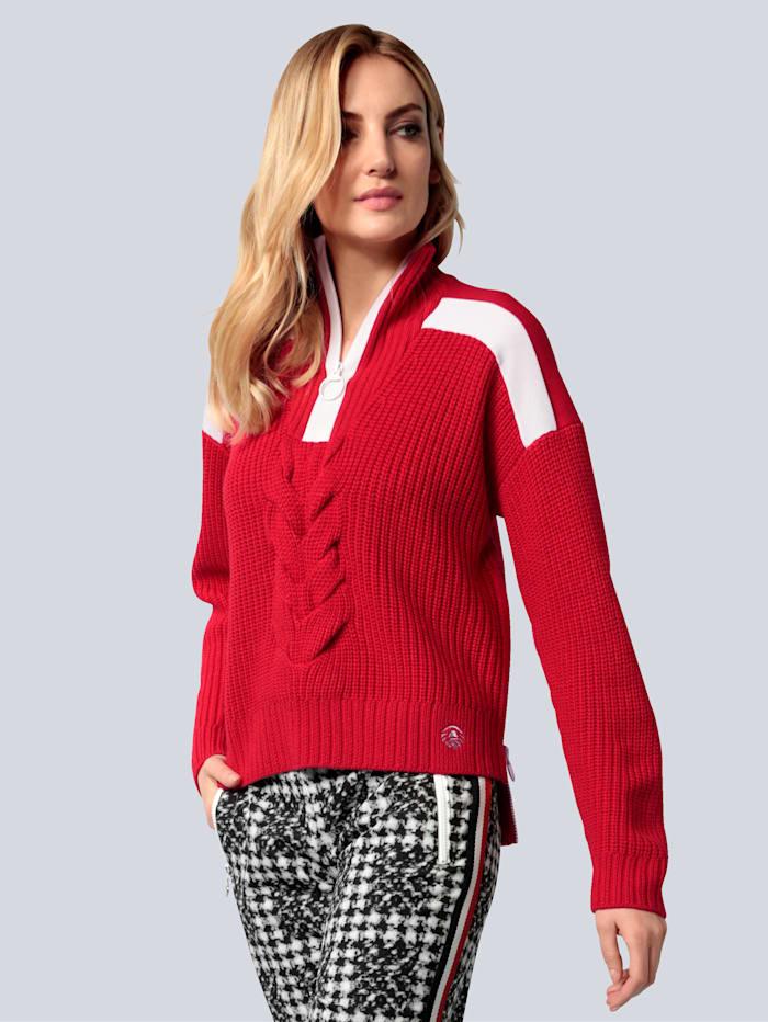 SPORTALM Pullover im Troyer-Stil, Rot