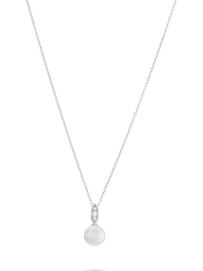 CHRIST C-Collection CHRIST Damen-Kette 375er Weißgold 1 Perle, weißgold
