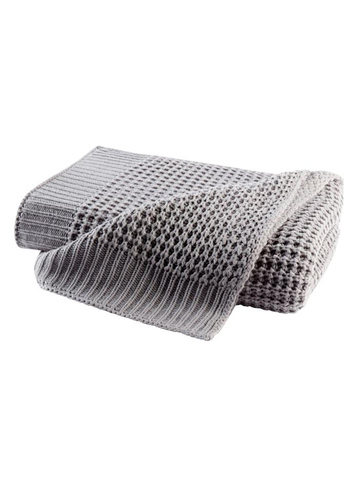 biederlack Wohndecke 'Knit', Grau
