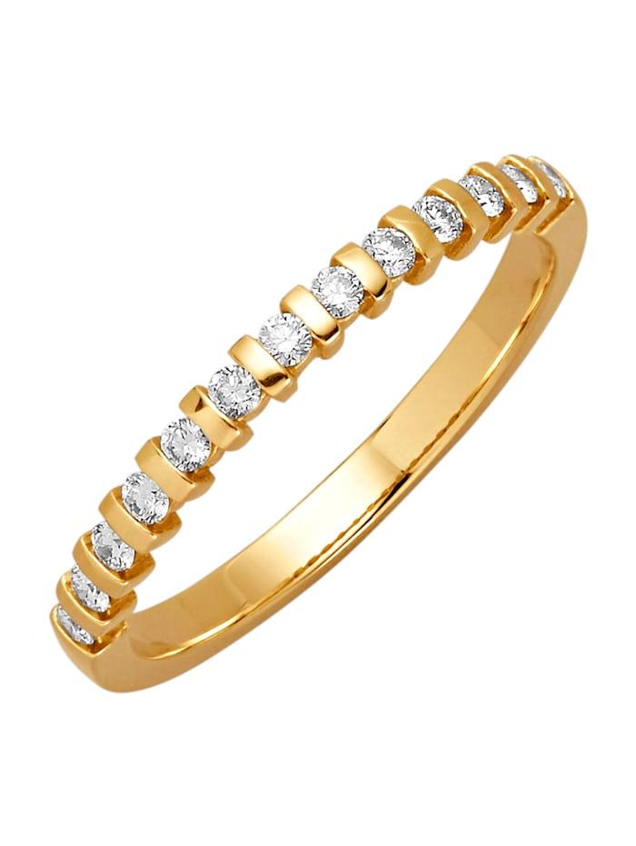 Diemer Diamant Damesring, Geelgoudkleur