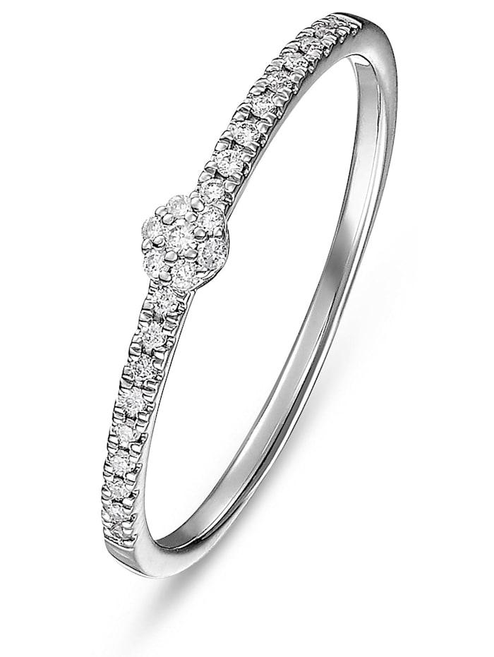 CHRIST Diamonds CHRIST Diamonds Damen-Damenring 375er Weißgold 25 Diamant, Weißgold